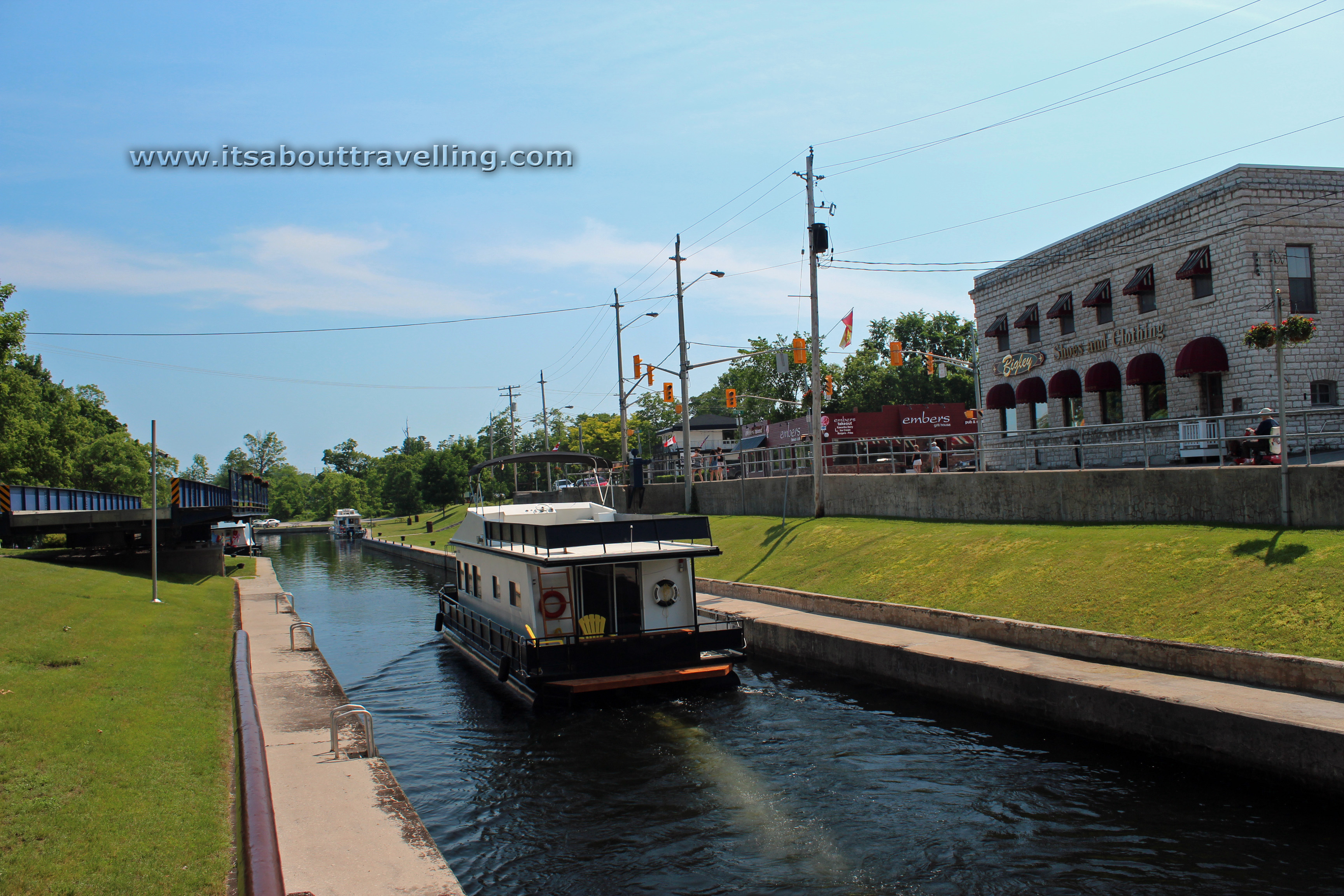 bobcaygeon house boat trent severn canal locks ontario canada Walleye Fish