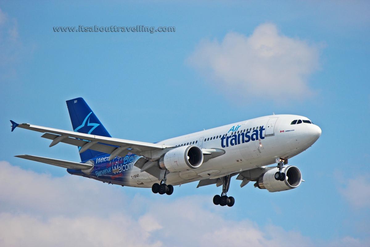 Air Transat Airbus A310 Inbound To Yyz From Dublin
